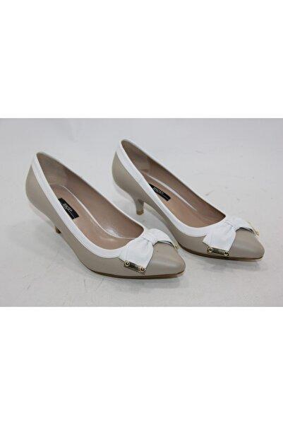 İnci Kadın Vizon Hakiki Deri Topuklu Ayakkabı