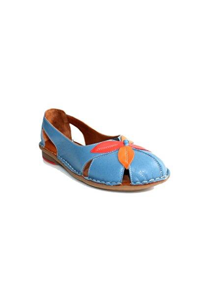 Beta Kadın Mavi Deri Ayakkabı