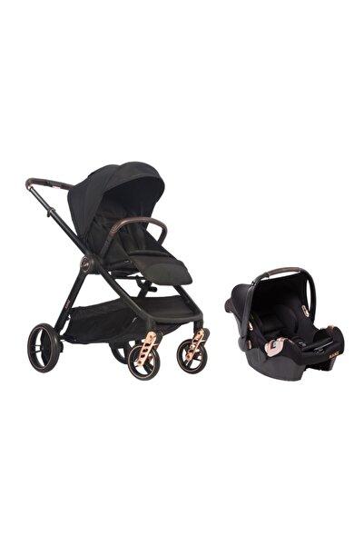 Kanz Unisex Çocuk Siyah Seyahat Sistem Bebek Arabası