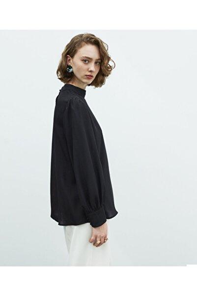 MISS IPEKYOL Kadın Siyah Balon Kol Bluz