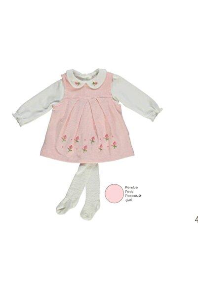 Bebetto Kız Bebek Kadife Elbise 3'lü Takım