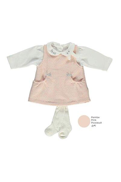 Bebetto Kız Bebek Kapitone Elbise 3'lü Takım