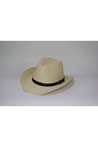 şapka dünyası Unisex Kovboy Fötr Hasır Şapka
