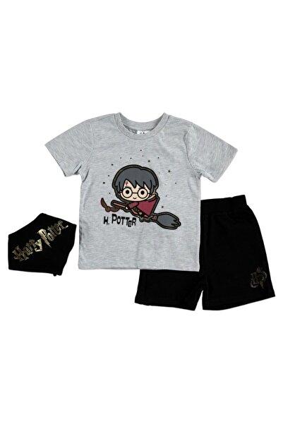 Warner Bross Warner Bros Yaz Erkek Bebek Harry Potter Tshirt-Şort-Fular Takım
