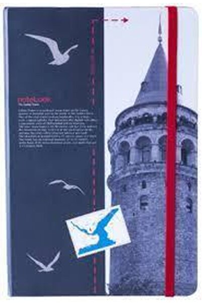 Scrikss Istanbul Kuleler Galata Kulesi A5 Çizgisiz Defter