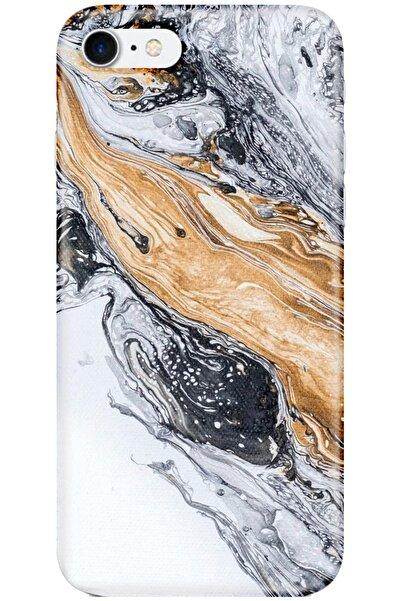 Noprin Apple Iphone 7 Kılıf Silikon Baskılı Desenli Arka Kapak