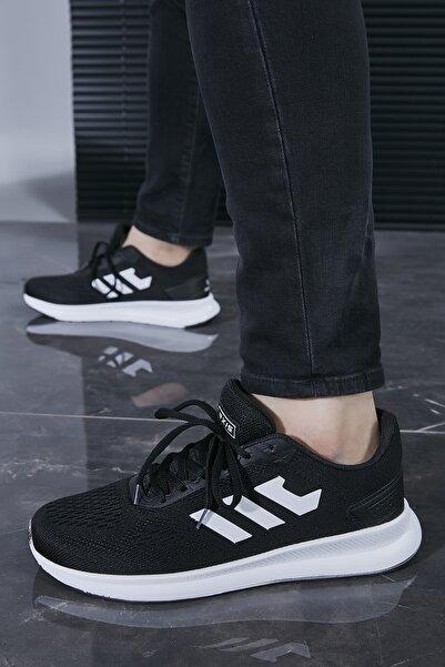 Sateen Men Erkek Siyah-Beyaz Spor Ayakkabı