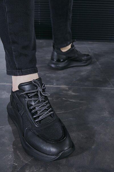 Sateen Men Erkek Siyah Eva Taban Spor Ayakkabı