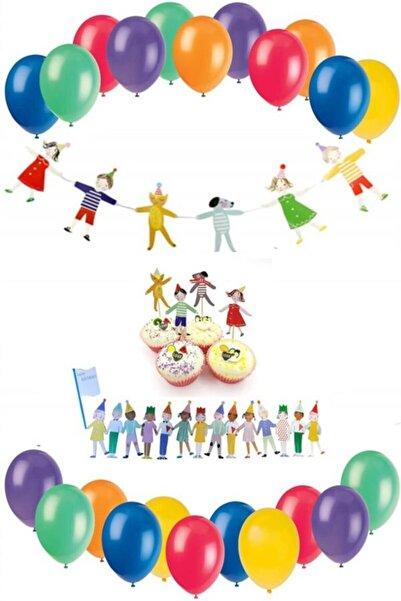 Partifabrik Neşeli Çocuklar Mini Dekorasyon Seti