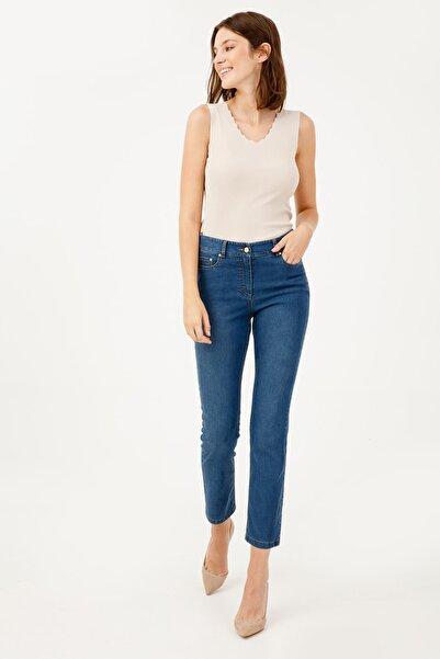 Ekol Kadın Düz Kesim Kot Pantolon