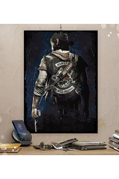 Tontilika Days Gone Gamer Tasarım Dekoratif  Ahşap Tablo 35x50 cm 8 mm