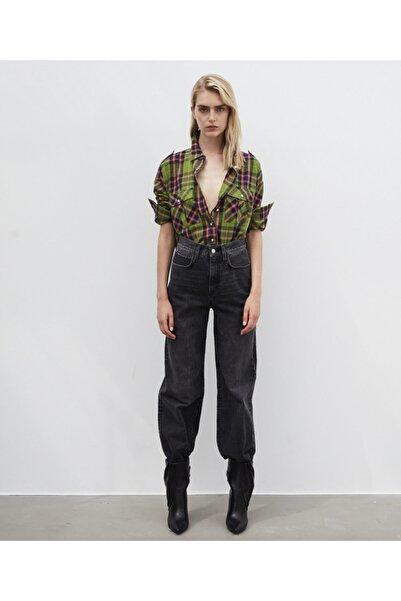 İpekyol Kadın Yeşil Ekose Desen Gömlek