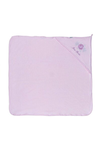 """Aziz Bebe 50093 Kız Bebek """"rose Garden"""" Şapkalı Banyo Havlusu"""
