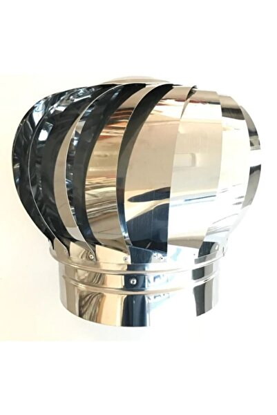 HTM Kalite Çelik F200 Rüzgar Gülü Baca Döneri Döner Şapka Uyuyan Soba