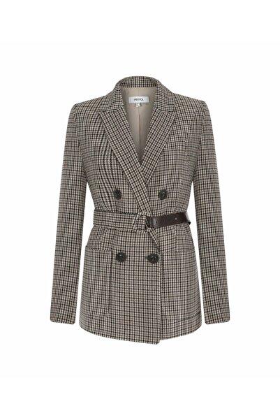 İpekyol Kadın Bej Kazayağı Desen Ceket
