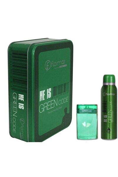 Flormar He Is Green Code Edt 100 ml 150 ml Deo Erkek Parfüm Seti 8690604137381