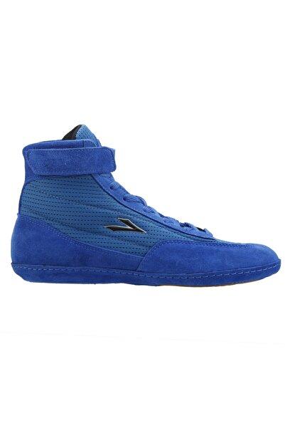 LIG Erkek Mavi 70 Güreş Boks Salon Spor Deri Ayakkabı