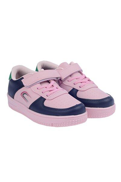 Kiko Kids Çocuk Pembe Cırtlı Spor Ayakkabı