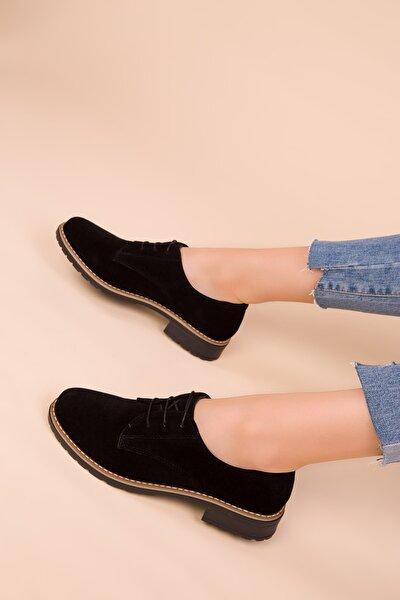 SOHO Siyah Süet Kadın Casual Ayakkabı 15440