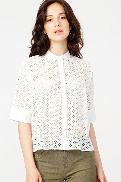 Fabrika Kadın Beyaz Gömlek 504529499
