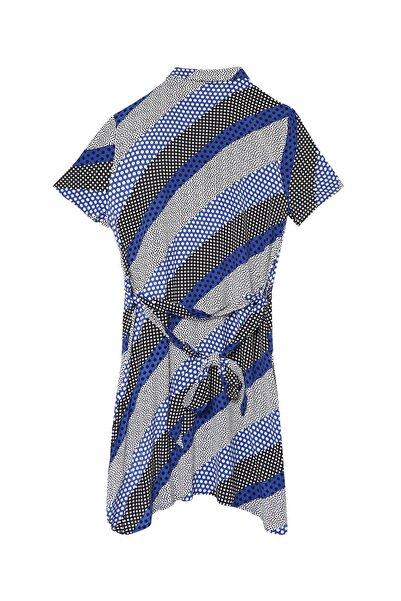 Fabrika Kadın Saks Elbise 504529472