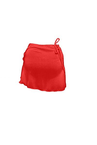 Astra Kadın Kırmızı Anvelop Bale Eteği