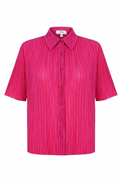 İpekyol Kadın Pembe Pilili Gömlek
