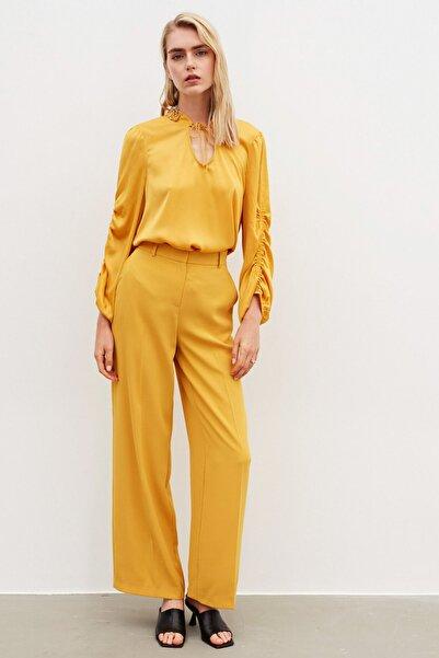 İpekyol Kadın Sarı Bol Paça Pantolon