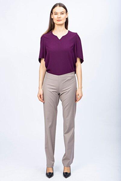 Ted Lapidus Kadın Vizon Yün Elastik Pantolon S6133