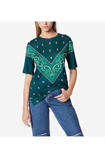 SANDRO Bandana Emprime Baskılı Kadın T-shirt