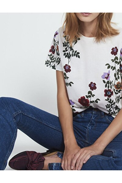 SANDRO Çiçek Baskılı Kadın T-shirt