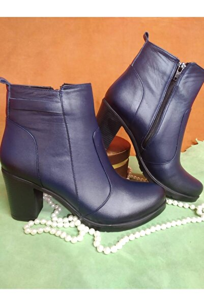 Ekim Ayakkabı Kadın Lacivert Napa Deri Bot