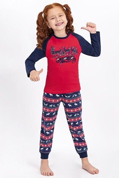 Arnetta Kız Çocuk Açık Kırmızı Pijama Takımı
