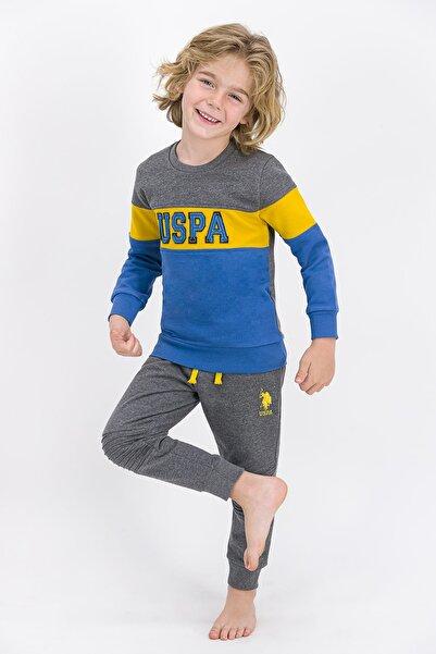 U.S. Polo Assn. U.s. Polo Assn Lisanslı Koyu Gri Melanj Erkek Çocuk Eşofman Takımı