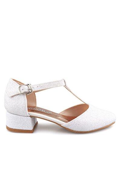Cici Bebe Ayakkabı Kız Cocuk Beyaz Sim Abıye Ayakkabı