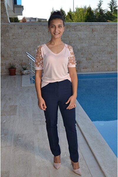 zeynep Kadın Lacivert Kumaş Pantolon