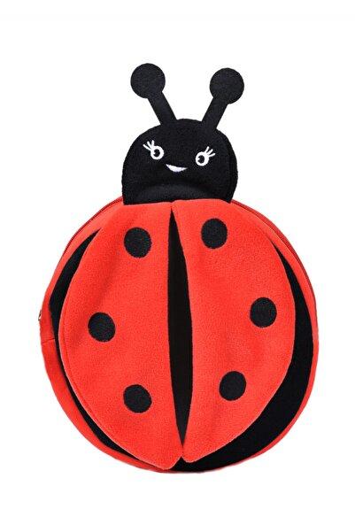 momofbaby Unisex Çocuk Kırmızı Uğur Böceği Peluş Sırt Çantası