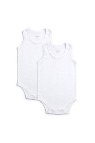 Funna Baby Bebek Beyaz Basic 2 li Atlet Body Set