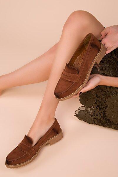 SOHO Taba Süet Kadın Casual Ayakkabı 15471