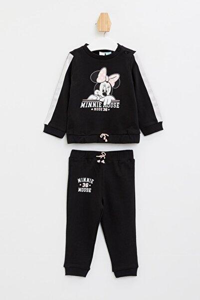 DeFacto Kız Bebek Minnie Mouse Lisanslı Alt Üst Takım