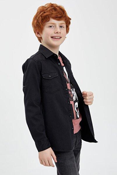 DeFacto Erkek Çocuk Siyah Kot Gömlek