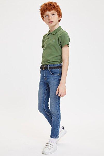 Yakası Çizgili Polo T-shirt