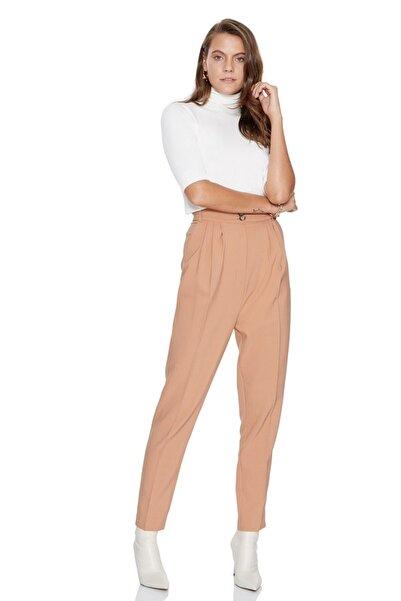 Keikei Kadın Camel Örme Uzun Pantolon