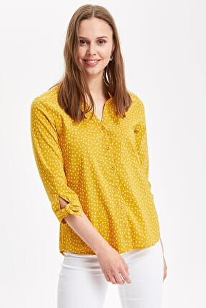 Kadın Uzun Kollu Gömlek I5280AZ.19SP.YL17