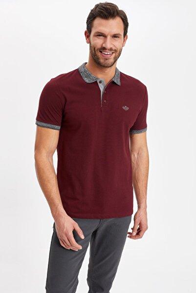 Erkek Baskılı Slim Fit Polo T-shirt K1139AZ.19SM.BR34