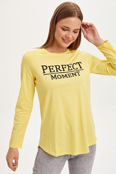 DeFacto Kadın Modest Sarı Baskılı Uzun Kollu Tunik L3321AZ.19SM.YL23