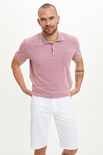 Erkek Bordo Önden Cepli Polo T-shirt M4579AZ.19SM.BR3