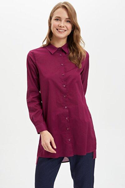 Kadın Mor Relax Fit Gömlek Tunik M0206AZ.20SP.PR169