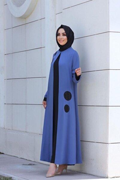 Gazella Kadın Lacivert İkili Boydan Elbise
