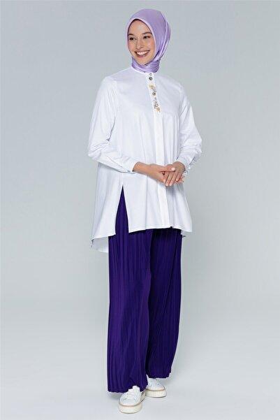 Armine Kadın Beyaz Gömlek 20y3842